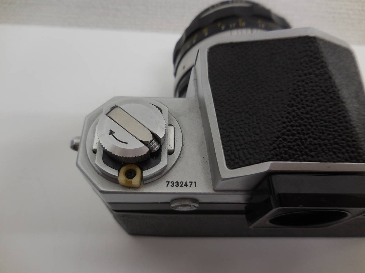 Nikon F アイレベル/NIKKOR-S f-50mm 1:1.4 動作未確認 ジャンク_画像10