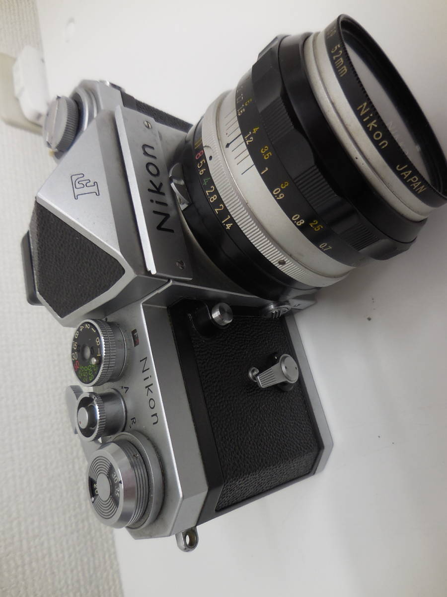 Nikon F アイレベル/NIKKOR-S f-50mm 1:1.4 動作未確認 ジャンク_画像7
