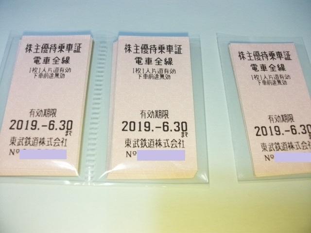 東武鉄道株主優待乗車証24枚セット