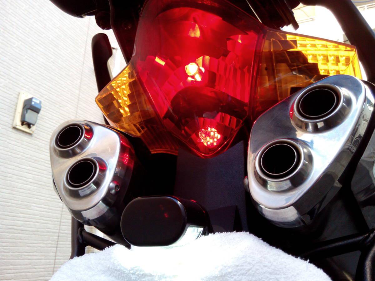 逆車 平成14年VFR800 車検平成32年10月 2型V-TEC ETC+パニヤ+トップケース+グリップヒーター+LED アップハン ツーリング仕様 東京発_画像6