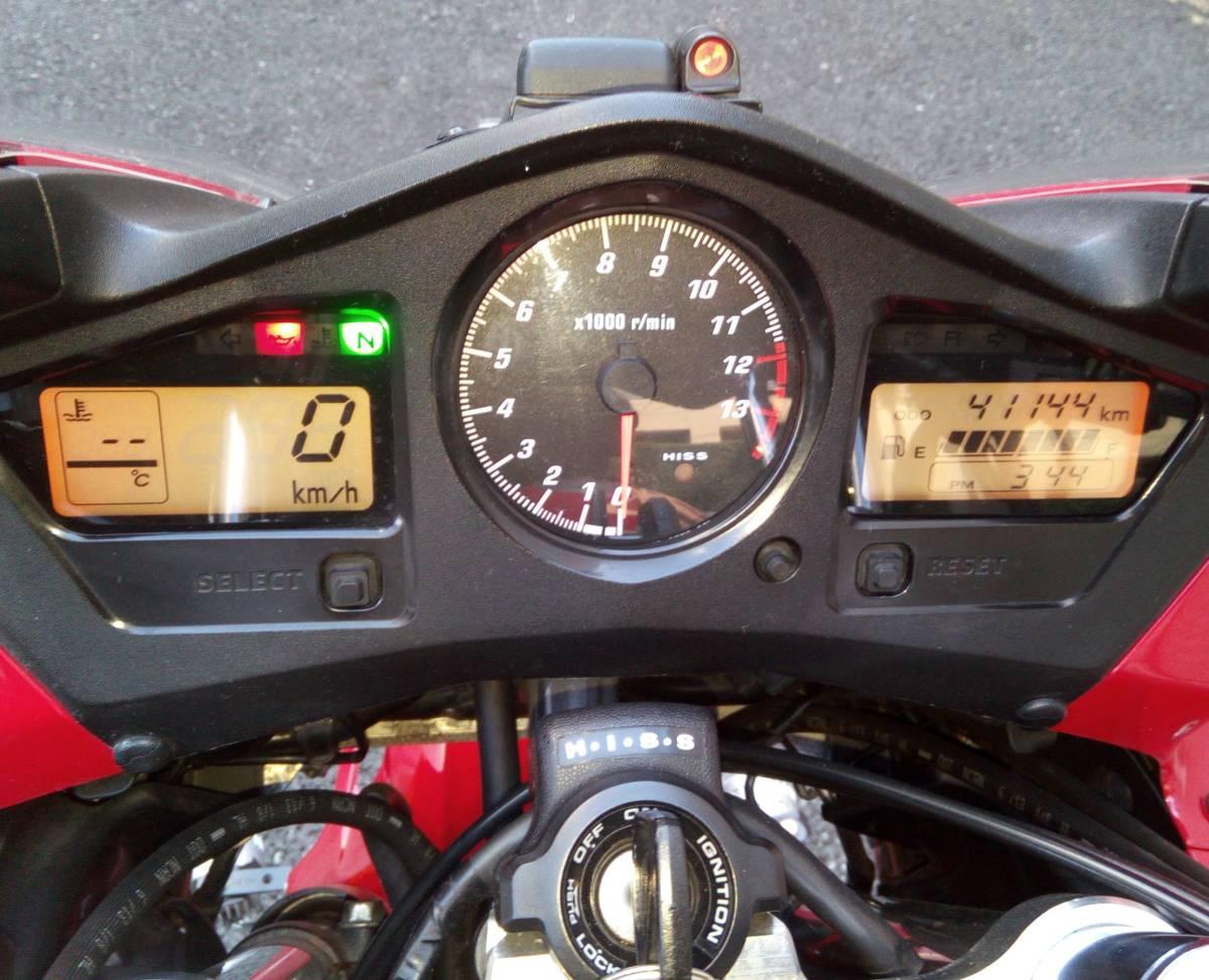 逆車 平成14年VFR800 車検平成32年10月 2型V-TEC ETC+パニヤ+トップケース+グリップヒーター+LED アップハン ツーリング仕様 東京発_画像4