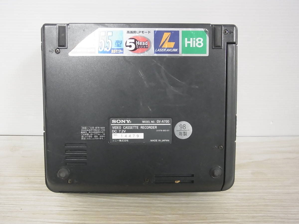 2847 SONY GV-A700 デジタルビデオカセットレコーダー ジャンク_画像6