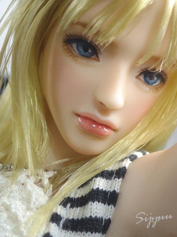 紫珠雨◆1/6カスタムドールヘッド 『セリーナ』 クールガール・シームレス素体にも_画像2