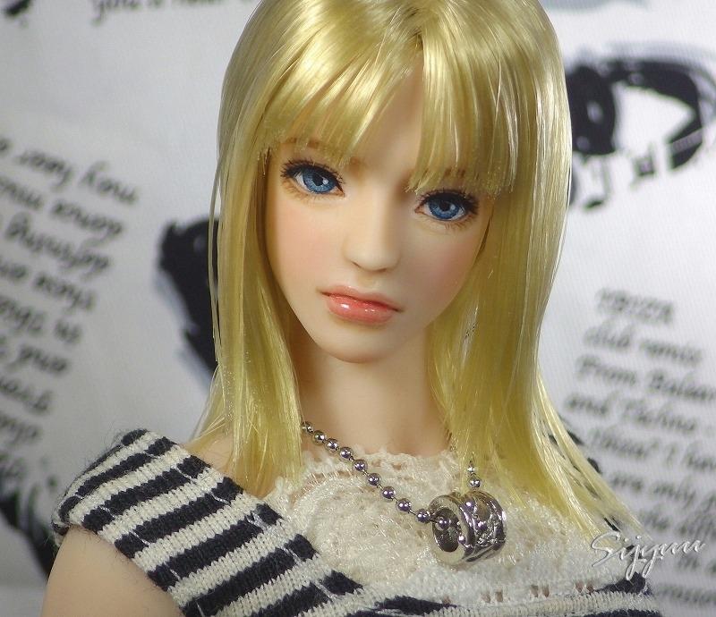 紫珠雨◆1/6カスタムドールヘッド 『セリーナ』 クールガール・シームレス素体にも_画像5