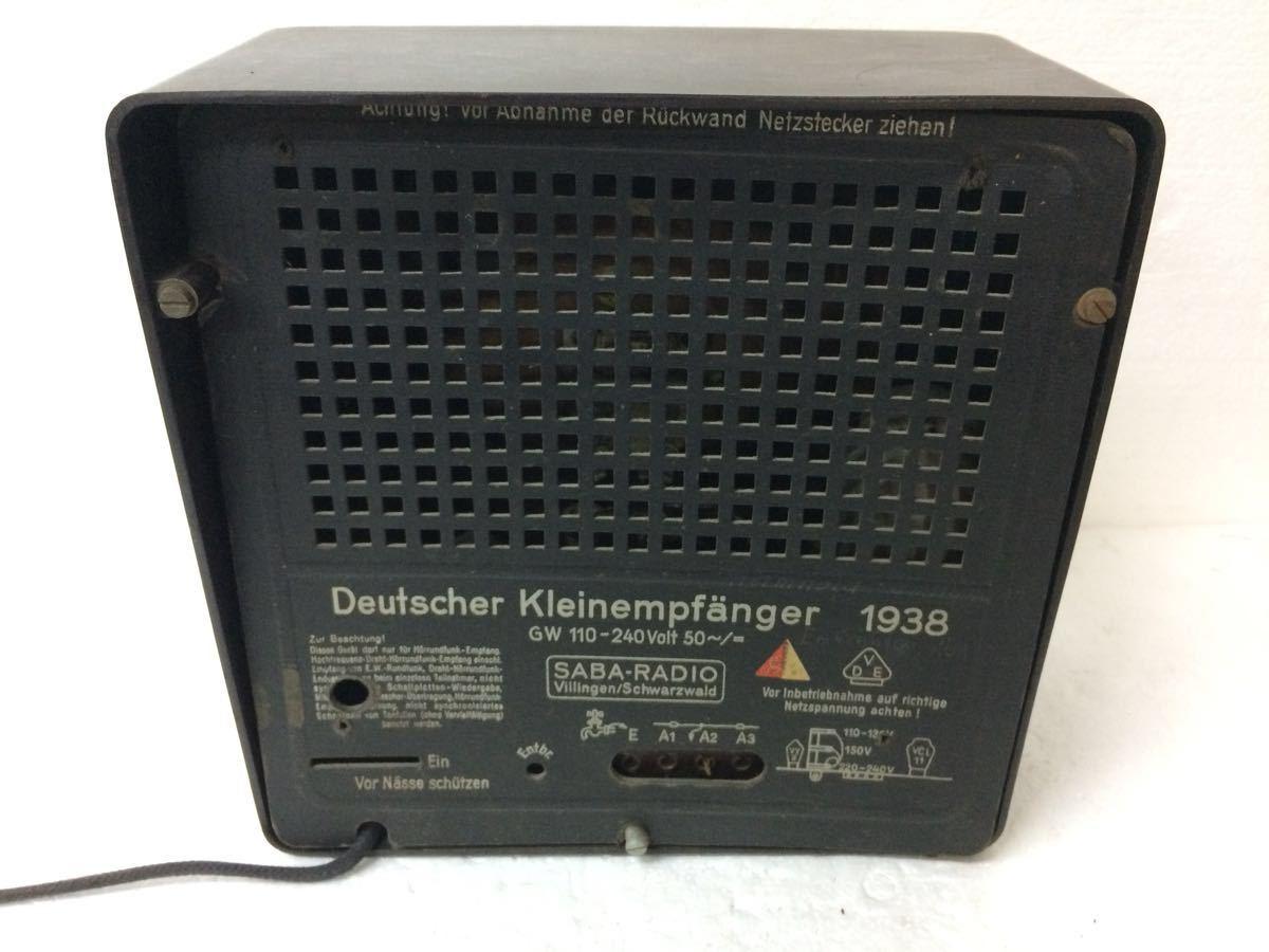 ラジオ SABA-RADIO Deutscher Kleinempfanger 1938 アンティーク reref-d 1226_画像5