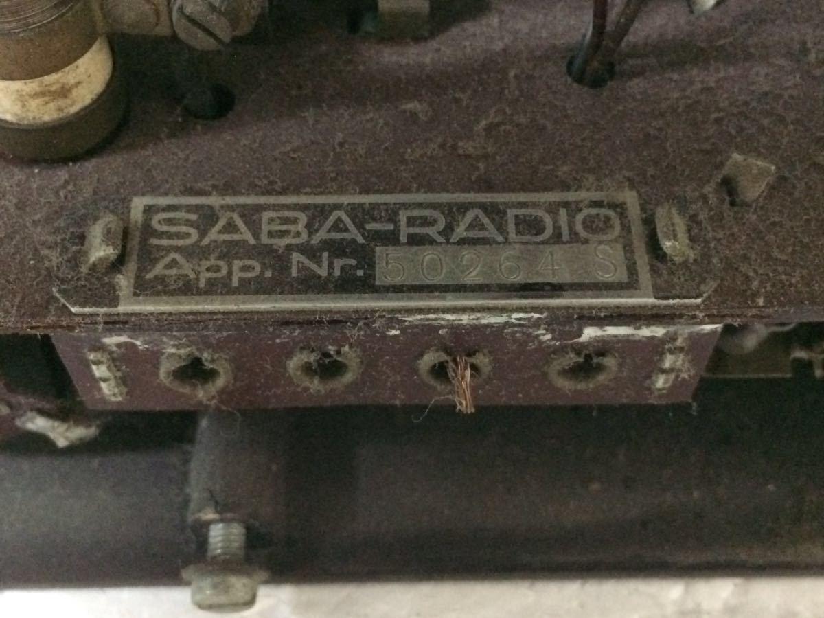 ラジオ SABA-RADIO Deutscher Kleinempfanger 1938 アンティーク reref-d 1226_画像8