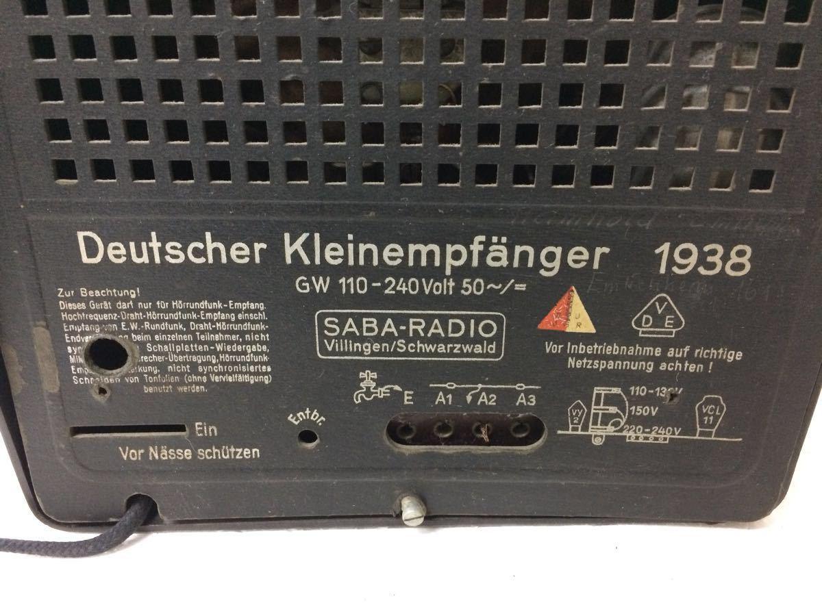 ラジオ SABA-RADIO Deutscher Kleinempfanger 1938 アンティーク reref-d 1226_画像6