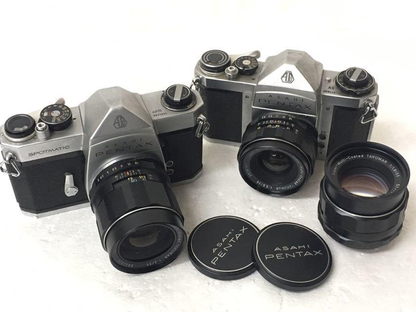 カメラ PENTAX/ペンタックス SP/SV レンズ 1:2/35mm 3.5/35mm 1.8/55 中古品 reref-s 1021-2