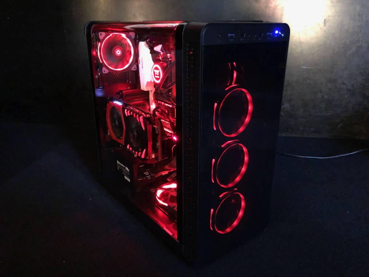 【新品】自作 ゲーミング PC 簡易水冷クーラー i7 7700 メモリ16GB SSD:M.2 250GB MSI GeForce GTX 1060 GAMING X + 6G 限定 の1台