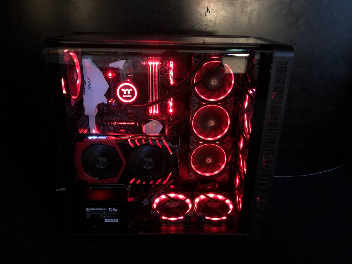 【新品】自作 ゲーミング PC 簡易水冷クーラー i7 7700 メモリ16GB SSD:M.2 250GB MSI GeForce GTX 1060 GAMING X + 6G 限定 の1台_画像2