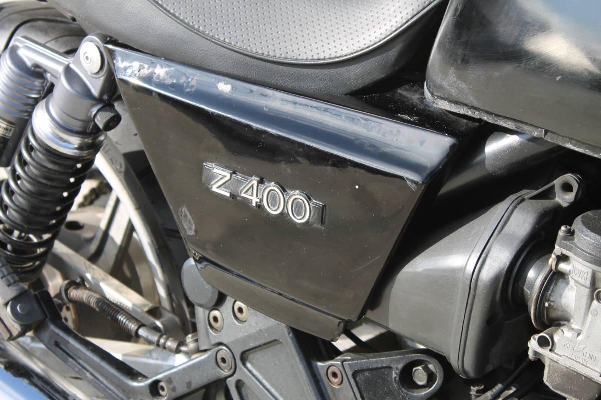 Z400FX仕様 ゼファー400 カスタム多数 ZR400C カワサキ ブラック 動画あり 検: ZRX XJ FX GPZ ゼファーχ ZXCV18049_画像4