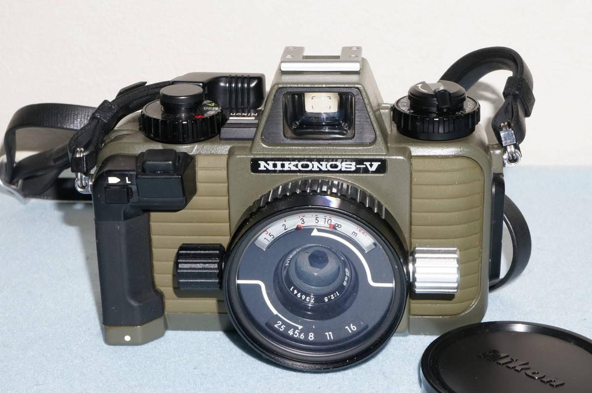 ★Nikon ニコン NIKONOS-Ⅴ / NIKKOR 35mm F2.5 ニコノス モスグリーン フィルムカメラ 水中カメラ 防水★