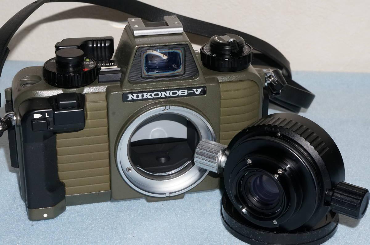★Nikon ニコン NIKONOS-Ⅴ / NIKKOR 35mm F2.5 ニコノス モスグリーン フィルムカメラ 水中カメラ 防水★_画像7