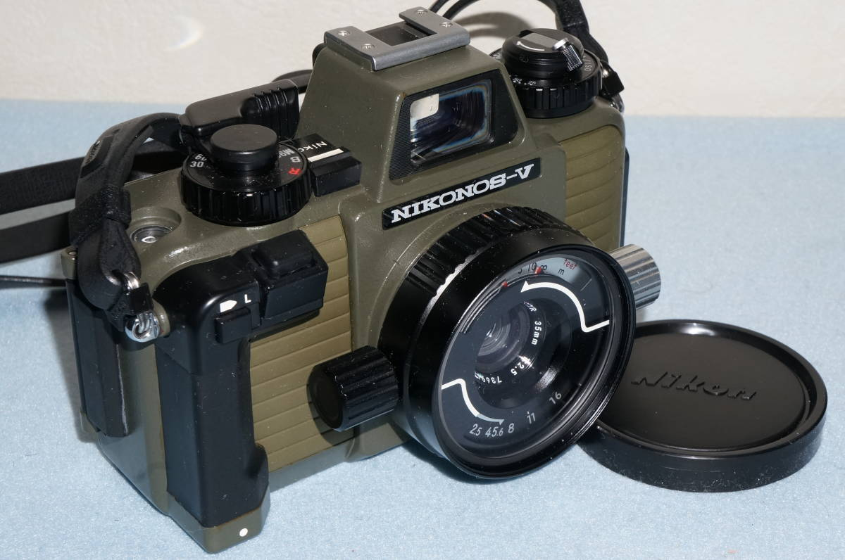 ★Nikon ニコン NIKONOS-Ⅴ / NIKKOR 35mm F2.5 ニコノス モスグリーン フィルムカメラ 水中カメラ 防水★_画像3