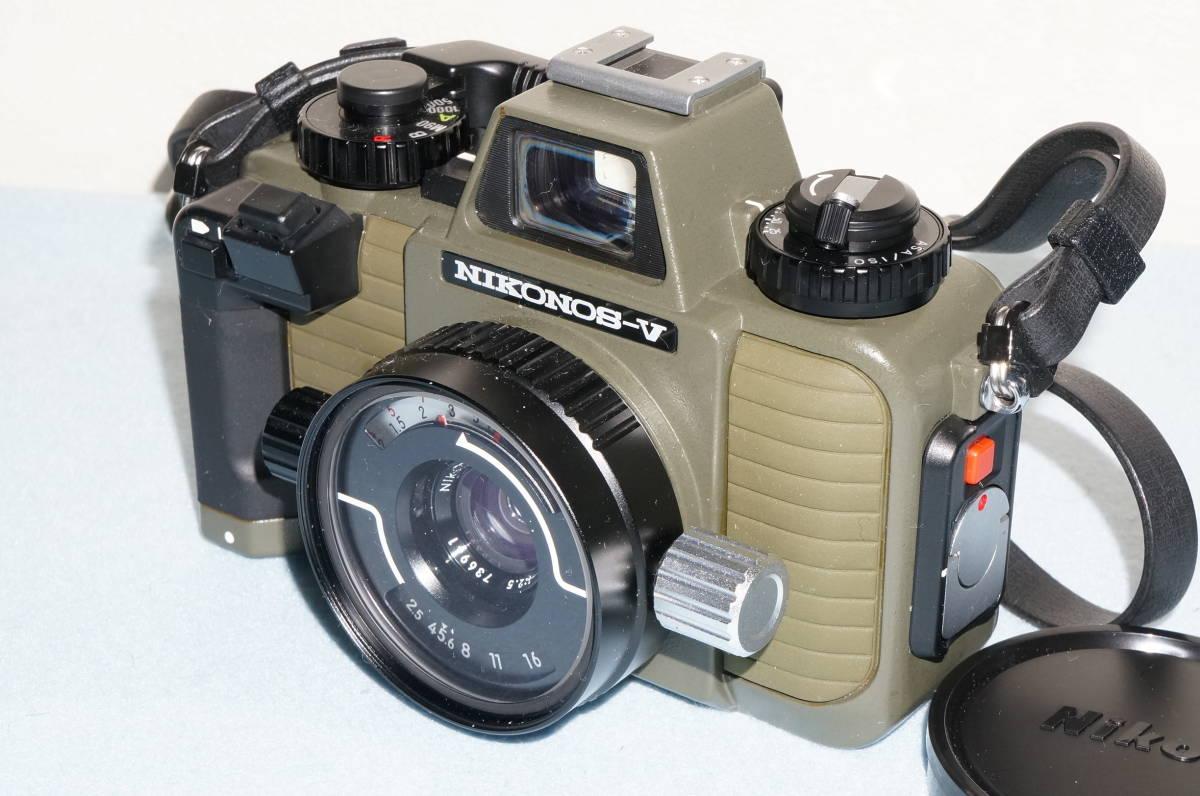 ★Nikon ニコン NIKONOS-Ⅴ / NIKKOR 35mm F2.5 ニコノス モスグリーン フィルムカメラ 水中カメラ 防水★_画像2