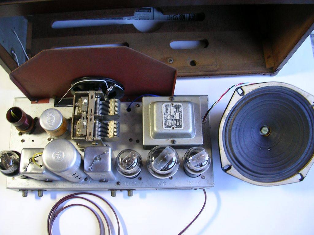 【整備済】 真空管ラジオ ナナオラ 5S-3型 フィールド型スピーカー 5球スーパー  _画像7