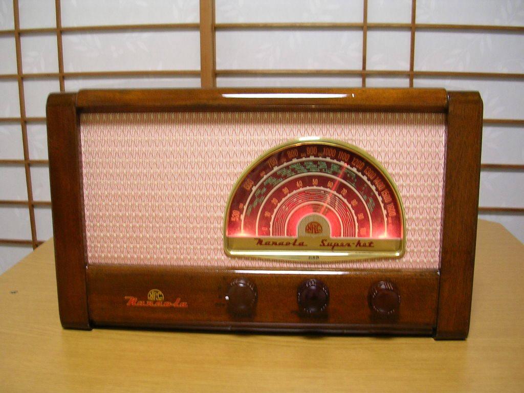 【整備済】 真空管ラジオ ナナオラ 5S-3型 フィールド型スピーカー 5球スーパー