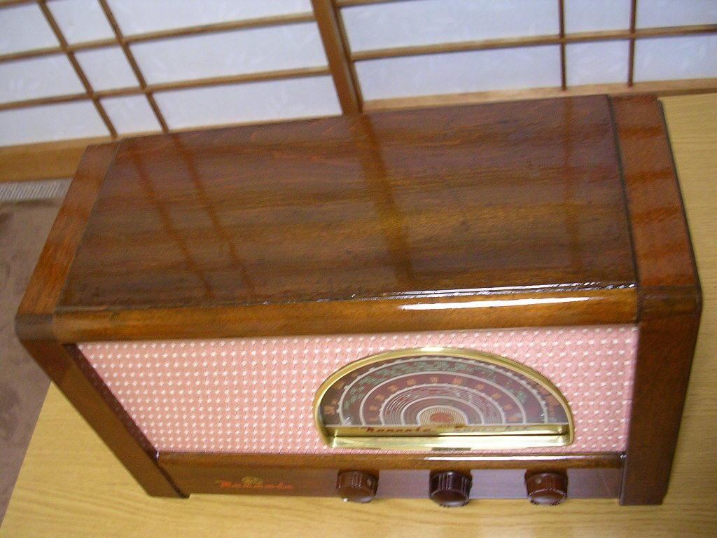 【整備済】 真空管ラジオ ナナオラ 5S-3型 フィールド型スピーカー 5球スーパー  _画像5