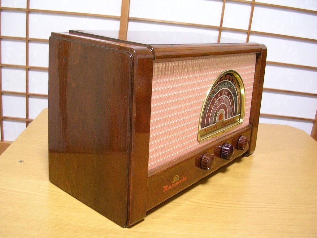 【整備済】 真空管ラジオ ナナオラ 5S-3型 フィールド型スピーカー 5球スーパー  _画像3