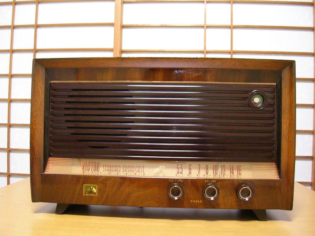 【整備済】 真空管ラジオ ビクター R-601型 5(6)球スーパー