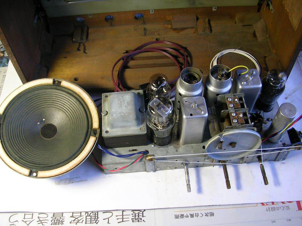 【整備済】 真空管ラジオ ビクター R-601型 5(6)球スーパー  _画像9