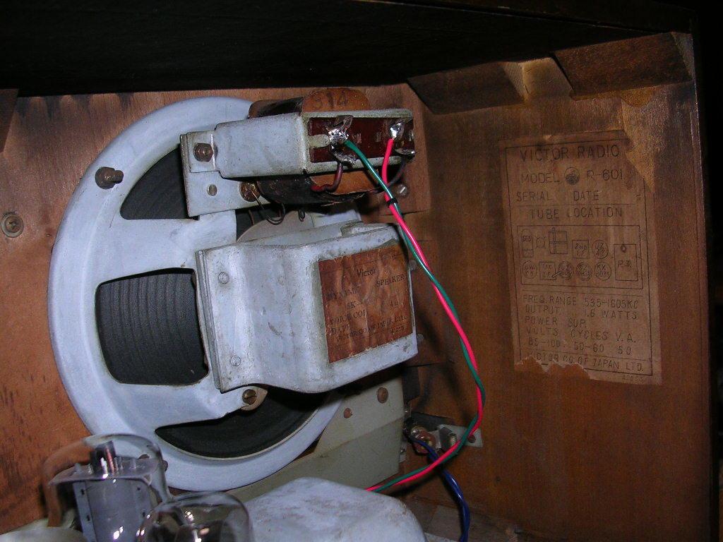 【整備済】 真空管ラジオ ビクター R-601型 5(6)球スーパー  _画像7