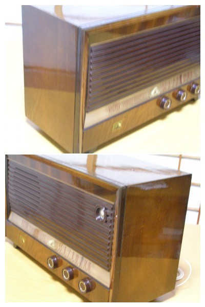 【整備済】 真空管ラジオ ビクター R-601型 5(6)球スーパー  _画像2