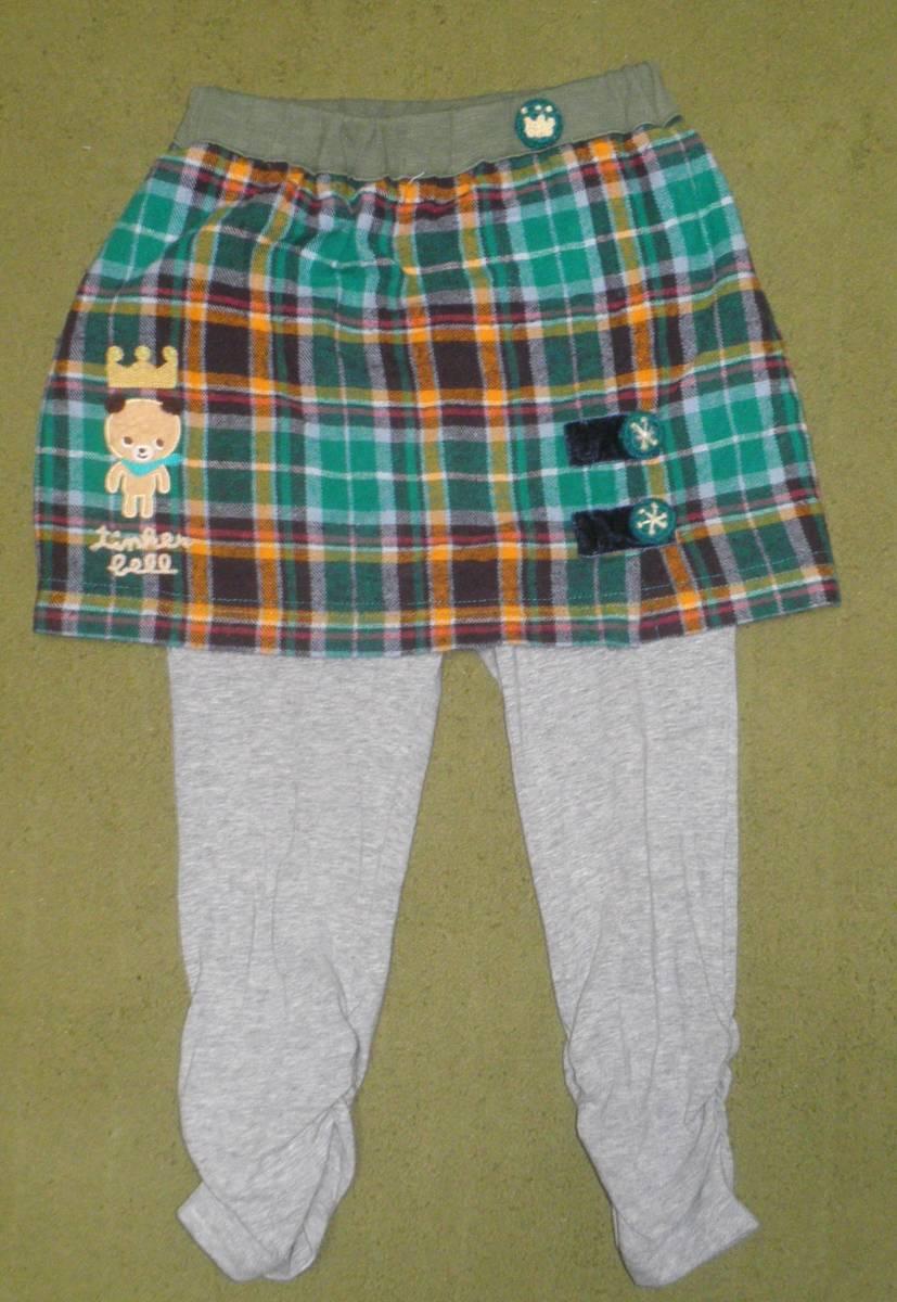 ティンカーベル クマ スパッツ付きスカート スカッツ 95_画像1