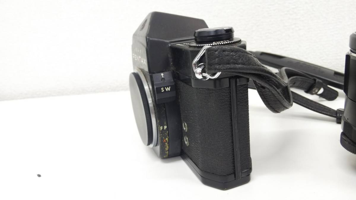【1/25①】1円~  ASAHI PENTAX ペンタックス SPOTMATIC SP レンズ 2個付_画像3