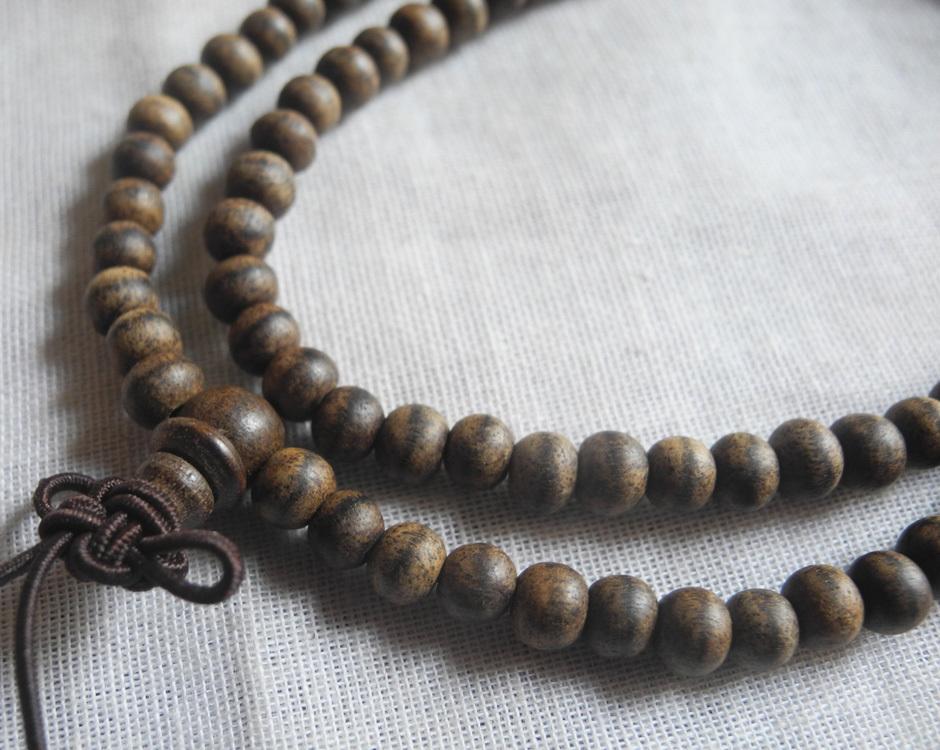 ベトナム産 香木 沈香 数珠 ネックレス ブレスレット 良い木目 本物 10g 5mm 仏具 伽羅 agarwood 水沈