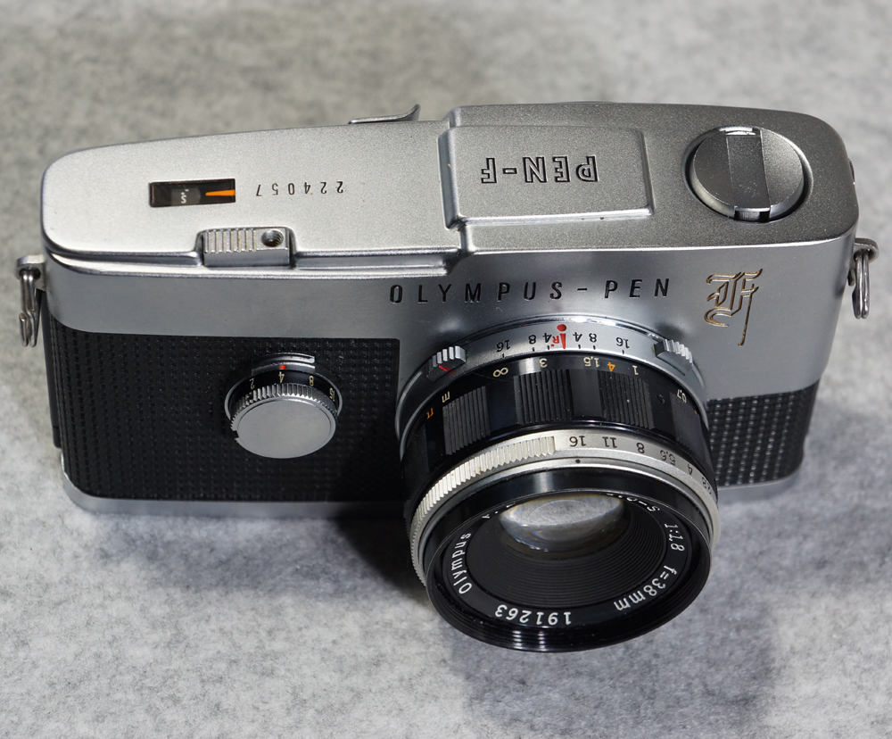 オリンパス ペンF ハーフサイズ フィルム一眼レフカメラ OLYMPUS PEN-F 【美品】_画像3