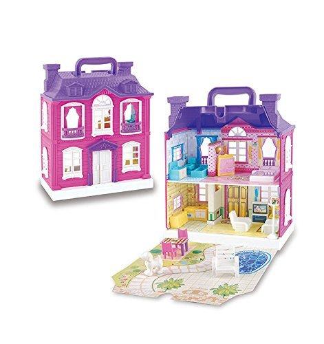 ★ Alnair ★ おままごと 2階建て 煙突のある お家 女の子 おもちゃ 知育玩具 ドールハウス 即決_画像4