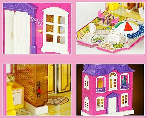 ★ Alnair ★ おままごと 2階建て 煙突のある お家 女の子 おもちゃ 知育玩具 ドールハウス 即決_画像2