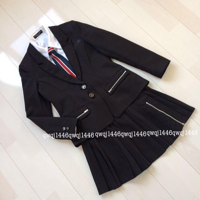 8cf49185e9acf 代購代標第一品牌- 樂淘letao - ミチコロンドンスーツ4点セット150cm フォーマル卒業式入学式卒服女の子女児かっこいい黒MICHIKO  LONDON