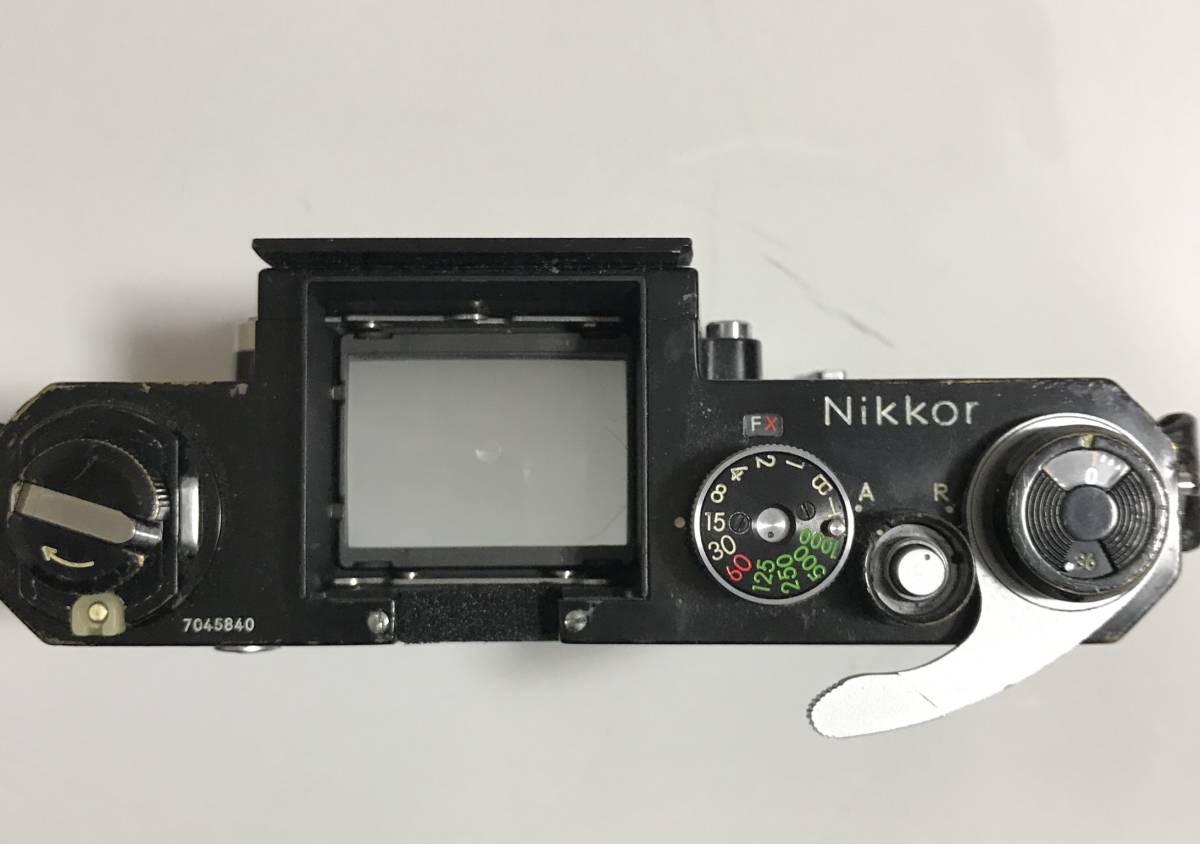 珍品 Nikkor F★ニッコールF ブラック(ファインダーなし)★ニコンFのドイツ輸出用★キィートスでオーバーホール済み_画像3
