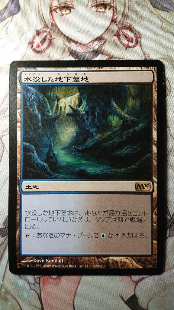 MTG マジックザギャザリング 基本セット2010 M10 水没した地下墓地 《Drowned Catacomb》 日本語版 代理出品_画像2