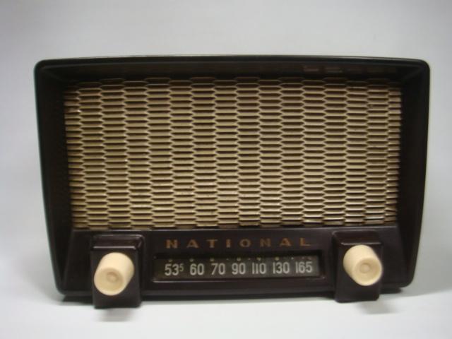 アンティーク ナショナル真空管ラジオ PS-53型 昭和28年 セミトランスレスGT5球スーパー 格安!