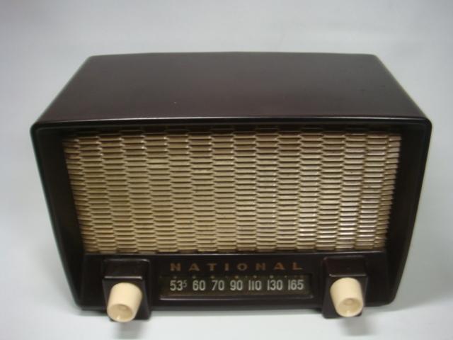 アンティーク ナショナル真空管ラジオ PS-53型 昭和28年 セミトランスレスGT5球スーパー 格安! _画像2