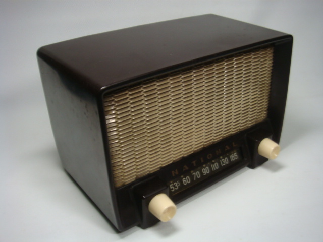 アンティーク ナショナル真空管ラジオ PS-53型 昭和28年 セミトランスレスGT5球スーパー 格安! _画像3