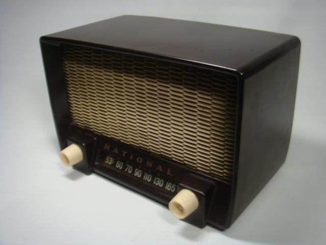 アンティーク ナショナル真空管ラジオ PS-53型 昭和28年 セミトランスレスGT5球スーパー 格安! _画像4