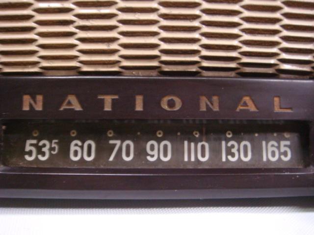 アンティーク ナショナル真空管ラジオ PS-53型 昭和28年 セミトランスレスGT5球スーパー 格安! _画像6
