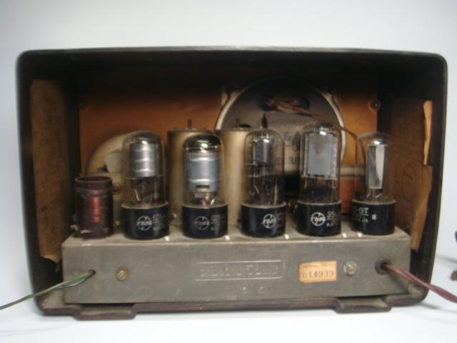 アンティーク ナショナル真空管ラジオ PS-53型 昭和28年 セミトランスレスGT5球スーパー 格安! _画像7