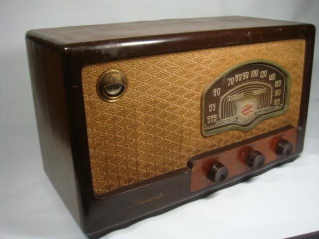 昭和レトロ ゼネラル真空管スーパーラジオ 八歐無線株式会社 ♪鳴ります♪ 格安! _画像3