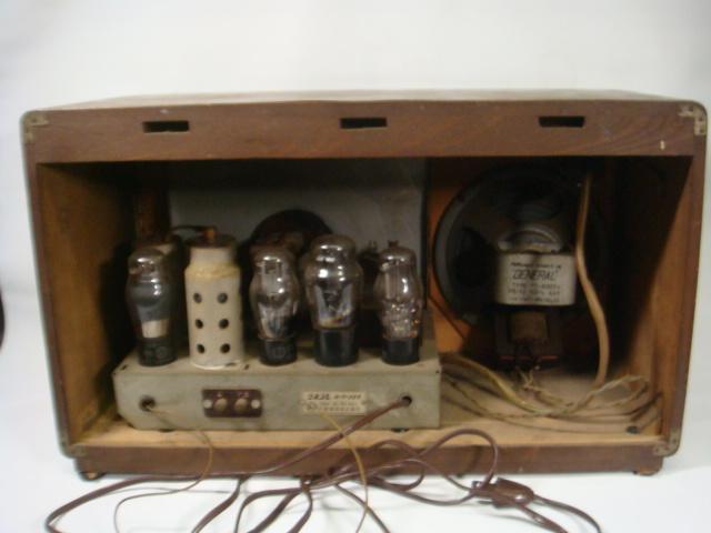 昭和レトロ ゼネラル真空管スーパーラジオ 八歐無線株式会社 ♪鳴ります♪ 格安! _画像8