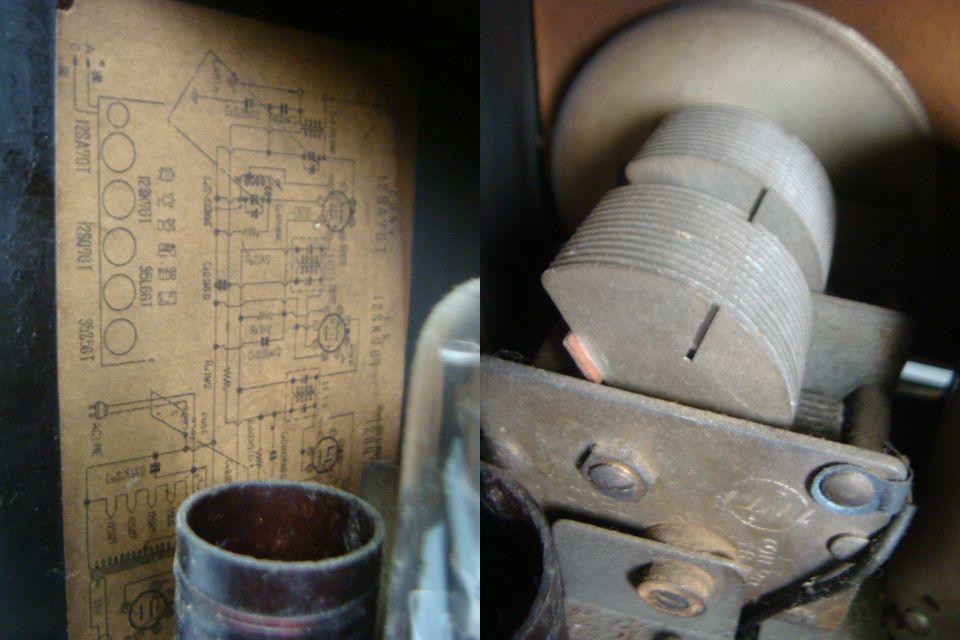 アンティーク ナショナル真空管ラジオ PS-53型 昭和28年 セミトランスレスGT5球スーパー 格安! _画像9