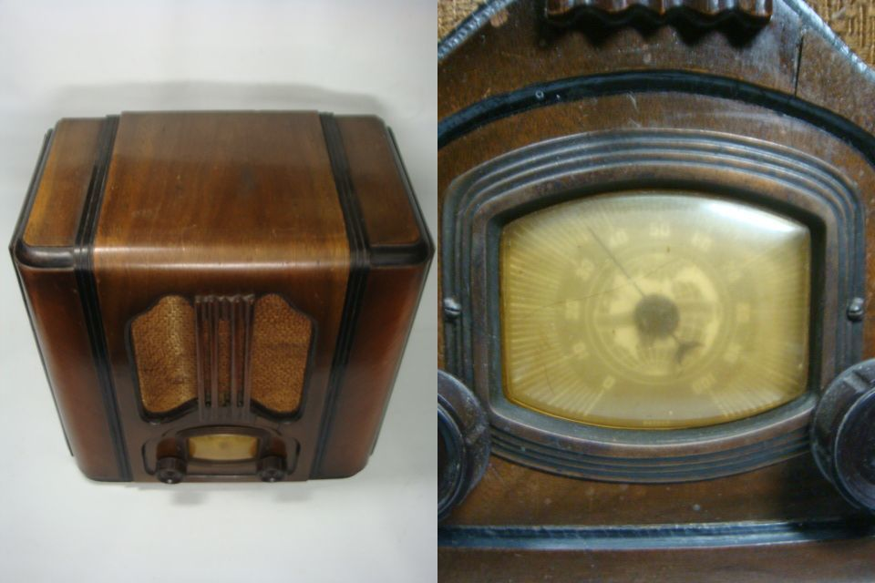 「津軽の旧家」 昭和レトロ 縦型4球真空管ラジオ インテリアに・・ 格安!_画像4