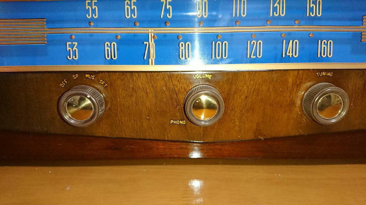 ビクター真空管ラジオ・綺麗です・普通に鳴ります・可動品_画像9