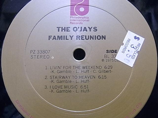 ◎オリジナルUS盤◎The O'Jays / Family Reunion / アルバム_画像3