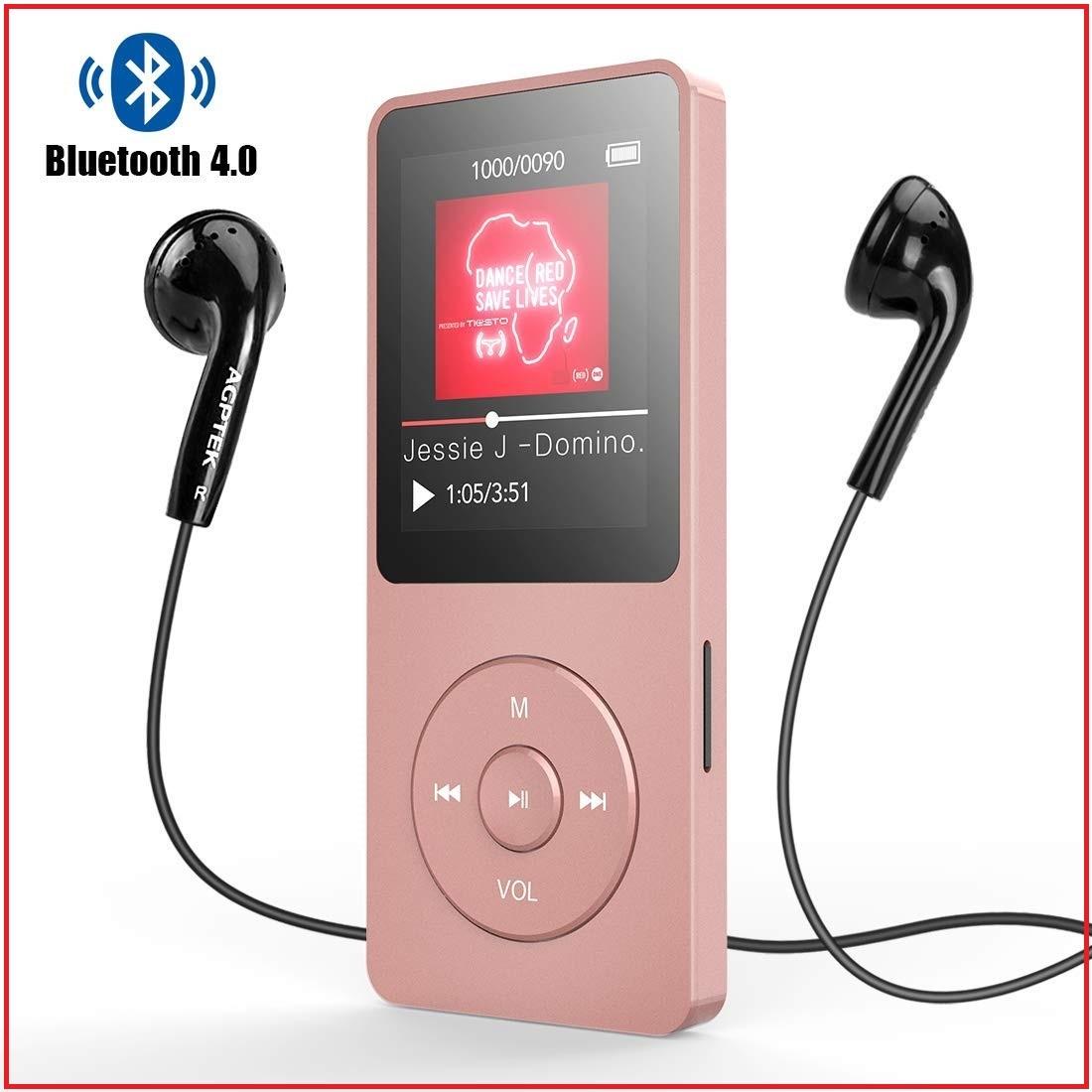 ★新品・未使用★ Bluetooth4.0 MP3プレーヤー HIFI高音質 超軽量 歩数計/FMラジオ 多機能 内蔵8GB マイクロSDカード128GBまで対応