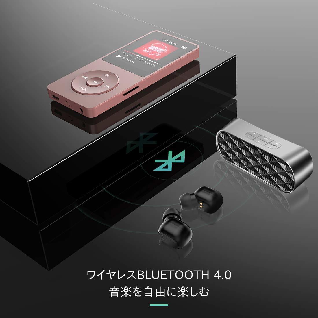 ★新品・未使用★ Bluetooth4.0 MP3プレーヤー HIFI高音質 超軽量 歩数計/FMラジオ 多機能 内蔵8GB マイクロSDカード128GBまで対応_画像7